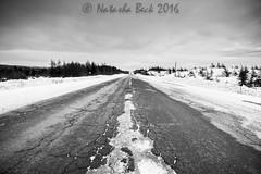 road to nowhere (becknatasha988) Tags: road blackandwhite canon highway tokina tch 1116mm witlessbayline canon7d