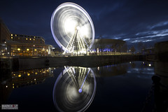 Liverpool Eye (Mark Holt Photography - 4 Million Views (Thanks)) Tags: longexposure liverpool reflections movement dusk longexposurephotography liverpooleye theliverpoolechoarena liverpoolbigwheel