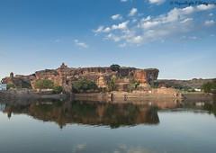 View from Badami Caves (magicallights) Tags: travel india karnataka monuments badami incredibleindia badamicaves