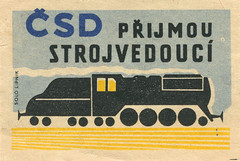 czeslovakian matchbox label (maraid) Tags: train czech label packaging czechrepublic railways csd matchbox czechoslovakian