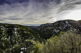 Overlooking Oak Creek Canyon - valley vista