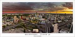 MELB160101 (Mathew Courtney) Tags: road sunset sky cars clouds buildings crane melbourne victoria cranes