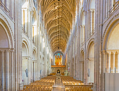 Norwich Cathedral, Norfolk (JackPeasePhotography) Tags: tower architecture nikon arch cathedral gothic norfolk stainedglass norman east norwich february anglia tallest 2016 d5300