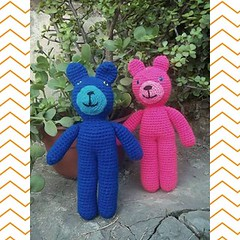 Reservoir Bears (Miss Carlaina Love!) Tags: art kids toys dolls bears crochet amigurumi