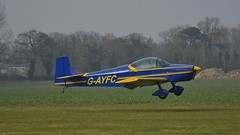 G-AYFC-9 (panmanstan) Tags: airplane flying aircraft yorkshire flight aeroplane condor airfield breighton