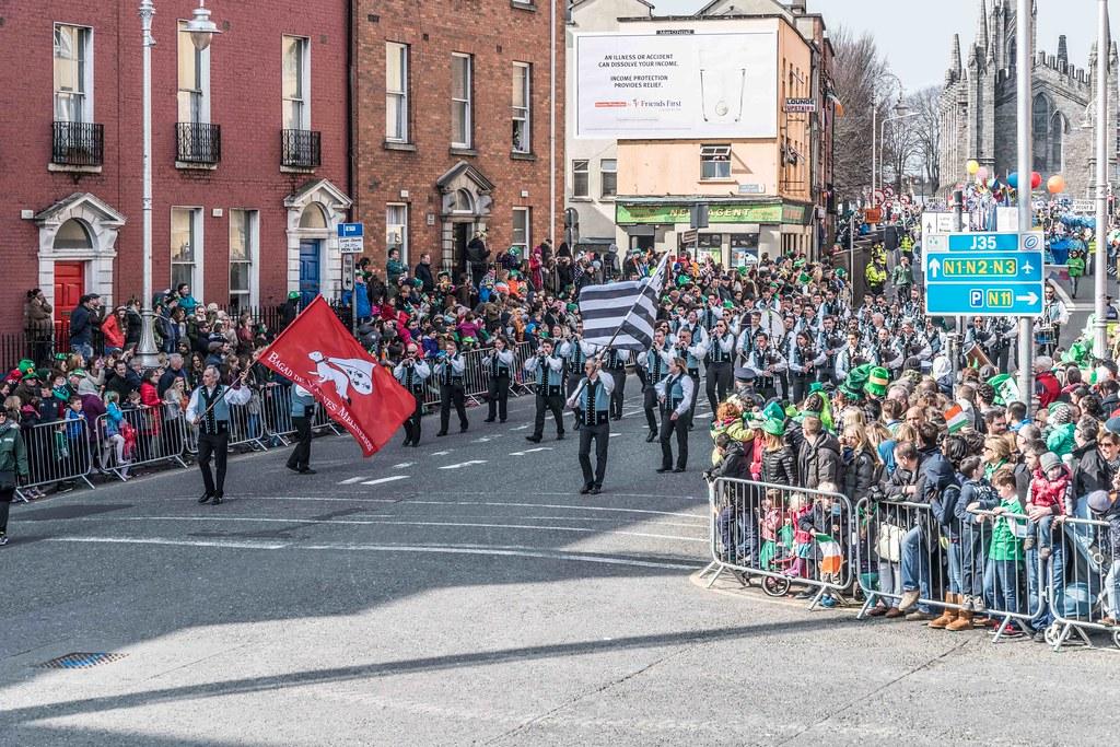 Bagad de Vannes Melinerion Brittany [St. Patrick's Parade In Dublin 2016]-112378