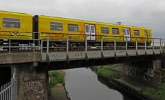 The Northern Line (RoystonVasey) Tags: bridge danger train canon river mod path alt rifle powershot coastal area range southport hs merseyside sefton hightown merseyrail altcar sx260