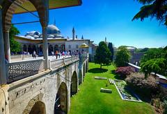 Topkap Palace in Istanbul, Turkey (` Toshio ') Tags: people history architecture turkey garden istanbul palace tourists ottoman topkappalace topkapi minarets toshio xe2 fujixe2
