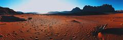 Matt Damon left his bench on Mars (Justin L Photography) Tags: travel sunset mountains sand desert wadirum jordan arabia rum wadi martian themartian