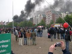 DSCN0890 (kbj102) Tags: germany protest police summit warming rostock global g8 anticapitalism anticapitalist heiligendamm