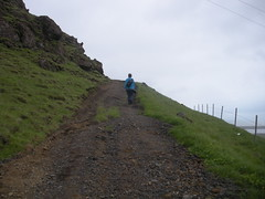 A shot that Mary took of me climbing Reynisfjall mountain (Anosmia) Tags: mountain iceland climbing sland reynisfjall