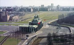 Along lost lines - Berlin DDR - Brandenburger Tor (railasia) Tags: berlin germany postcard ddr brandenburgertor thewall sixties boarder photographyby losttrack lostline