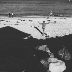 Everyday Adelaide No. 221 (Autumn/Winter) Brighton Beach (michelle-robinson.com) Tags: life blackandwhite bw dog beach monochrome square outdoors blackwhite shadows documentary lifestyle australia streetlife 11 smartphone squareformat adelaide streetphoto everyday atthebeach society southaustralia brightonbeach sunnyday beachside blackwhitephotography beachscape photoapps beachlandscape mobilephotography phoneography australianbeaches michellerobinson procamera flickrelite iphonephoto shotwithiphone iphoneography iphonephotoapps shotoniphone 4tografie brightonsouthaustralia procameraapp instagram smartphonephotography brightonbeachsouthaustralia michmutters shotoniphone6plus shotwithiphone6plus everydayaustralia
