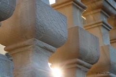 Geländer (Klaus R. aus O.) Tags: sun stone wall lock schloss stein sunbeam sonnenstrahl nahaufnahme geländer sonn oberschwappach