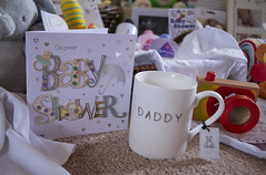 Don't forget the Daddy (explored) :o))) (kellyhackney1) Tags: family friends baby love cup daddy gift surprise papa lovely babyshower surpriseparty piccy