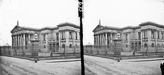 Two-storey classical style modern building - is Crumlin Road Courthouse in Belfast (National Library of Ireland on The Commons) Tags: belfast courthouse derelict portico ulster crumlinroad nationallibraryofireland lawrencecollection stereographicnegatives jamessimonton frederickhollandmares thestereopairsphotographcollection johnfortunelawrence williammervynlawrence