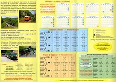 2009 achterzijde folder CFB (Arno@Rsd) Tags: folder cfb dienstregeling chemindeferdubocq