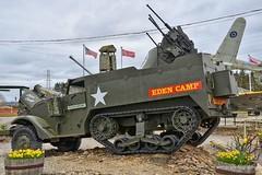 Eden Camp (amhjp) Tags: england english army duck nikon war tank britain military yorkshire wwii 1940 lorry 1940s german american ww2 british russian armour reenactment sherman cromwell halftrack wartime wwll militaryvehicles germanarmy edencamp scoutcar warweekend brencarrier nikondslr americanarmy 193945 reenactmentevent ww2reenactment russiant34 reenactmentevents nikond7000 reenactmentweekend amhjpphotography amhjp