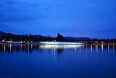 Blue hour near the Danube river (nagyistvan8) Tags: blue sky water yellow river landscapes boat nikon hungary background slowshutter bluehour duna magyar danube esztergom magyarország 2015 tájkép sárga kék égbolt háttérkép víz hajó folyó hosszúzáridő kékóra nagyistván nagyistvan8