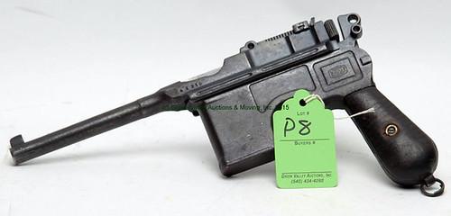 Mauser Broomhandle - 7.63 Caliber Semi-Automatic Pistol - $467.50 (Sold June 5, 2015)