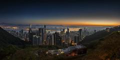 Hong Kong awakens (merbert2012) Tags: china city travel sunrise fun hongkong reisen nikon cityscape bluehour planetearth nikond800