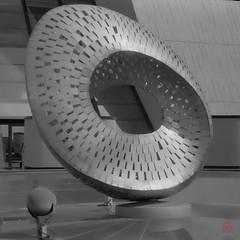 Moebius (Mark Kaletka) Tags: bw sculpture film 35mm rangefinder fermilab fed moebius fed5 fermi ilfosol3 kentmere100