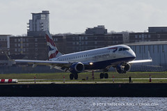 British Airways ERJ190 ~ G-LCYR ( Freddie) Tags: london londoncityairport newham e16 lcy royaldocks eglc runway27