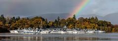Magic Marina (Richard W2008) Tags: trees water marina boats scotland rainbow lochlomond