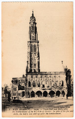 Arras - Town Hall (pepandtim) Tags: old shells de fire hotel early town hall postcard nostalgia belfry nostalgic 1914 ville bombardment arras 1916 beffroi 44ath66