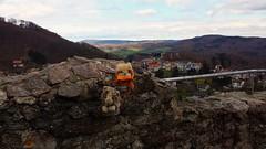 We took over castle Lindenfels (rocknrolltheke) Tags: castle germany toys deutschland holidays hessen plushies smokey ferien plschtier wicket odenwald sddeutschland plschtiere southerngermany lindenfels bergstrase smokeystravelcorner