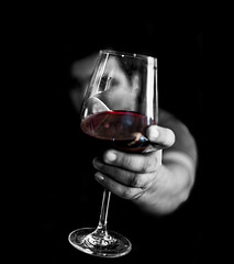 Ready to Toast (machixnation) Tags: bw color glass monochrome contrast dark blackwhite nikon wine d750 18 tamron 45mm selective whine