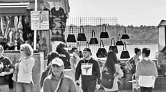 Market Shoppers (sea turtle) Tags: seattle street city people urban blackandwhite bw blackwhite downtown market pikeplacemarket