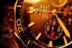 Omega Seamaster (Tom Anirae) Tags: macro watch omega dial micro seamaster chronometer chronograph montre chrono