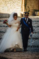 (Antonio_Trogu) Tags: wedding italy soldier groom bride couple uniform italia marriage sicily aviator sicilia erice 2012 trapani sposi airman nikond40 antoniotrogu