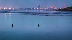 Blue Hour (PixTuner) Tags: blue water wasser bokeh hour weser bremerhaven blauestunde bokehrama pixtuner