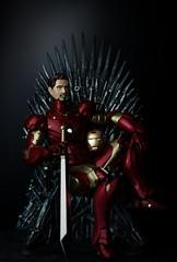 Stark and the Iron Throne (Otitus) Tags: mashup sb600 got kaiyodo strobist revoltech ironthrone ironmanmkiii phottixstratoii chogokinsword