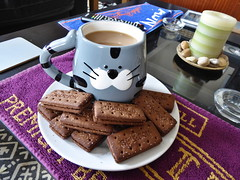 Coffee Time!!! (garethedwards36) Tags: food coffee cat lumix mug biscuits