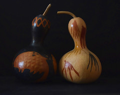 Gourds (Jo-Feels Like Winter Out There!) Tags: two gourds couple painted pair pairs colourful lowkey decorated twoofakind sunking theflickrlounge manyspirits
