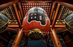 Lantern (ScottSimPhotography) Tags: city travel red japan night asian temple sensoji japanese tokyo shrine asia nightscape symbol buddhist sony famous sightseeing perspective wideangle visit east  lantern 12mm asakusa oriental fareast  hozomon   rokinon a6000