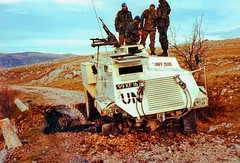 UN Peacekeepers inspect a mine damaged Saxon APC somewhere in the Balkans circa 1993 [1024x696] #HistoryPorn #history #retro http://ift.tt/1Mz56Pp (Histolines) Tags: history mine retro 1993 un timeline balkans apc damaged circa somewhere saxon peacekeepers inspect vinatage 1024x696 historyporn histolines httpifttt1mz56pp
