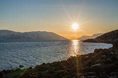 Sunset in Kviby (johansenfoto) Tags: ocean sunset sea snow mountains water norway landscape coast norge seaside outdoor arctic shore alta seashore finnmark solnedgang altafjord altafjorden kviby