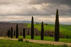 Cappella della Madonna di Vitaleta (marypink) Tags: sky clouds landscape pov tuscany toscana valdorcia paesaggio cipressi 2470mmf28 cappelladivitaleta nikond5200