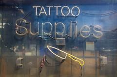 Tattoo Supplies (JeffStewartPhotos) Tags: toronto ontario canada sign store neon letters storefront signage queenstreet leslieville queenstreeteast studioone walkingwithdavidw walkingwithsashaf walkingwithmaryc studioonetattoosupplies