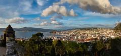 Panorama Vigo (PacotePacote) Tags: panorama espaa clouds puerto spain ciudad rasbaixas galicia galiza castro castelo nubes castillo vigo ra
