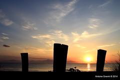 Sunrise ! (Antoine Gravini) Tags: light shadow sea summer sky sun mer beach water silhouette sunrise island soleil eau waves corse lumire corsica ile ombre ciel contraste t vagues plage contrejour lever