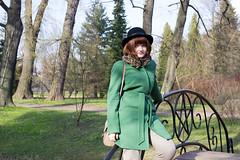 Girl on bridge (maksimmalyy) Tags: park bridge girl stpetersburg spring sad russia        botanicheskiysad botanicheskiy