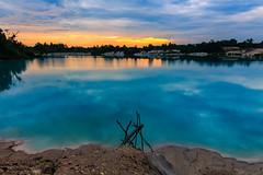 Belitung Photo Trip (Irwin Day) Tags: sunset sea beach sunrise landscape laut pantai danau kaolin belitung belitong