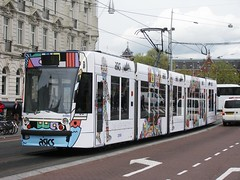 ASICS tram GVB 2016 (streamer020nl) Tags: holland netherlands amsterdam nederland siemens tram asics paysbas niederlande gvb damrak 2016 2090 290416