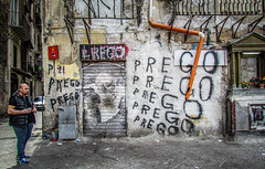 Do you also need Wi-Fi for praying (prego) ? (aannasole) Tags: street urban wall memories streetphotography sicily prego palermo sicilia decadence sprayart vucciria degrado annasole palermobedda