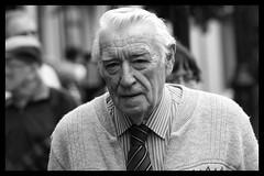 Older gentleman (Frank Fullard) Tags: street ireland portrait irish tie elderly older mayo gent cardigan gentleman shirtandtie swinford fullard frankfullard